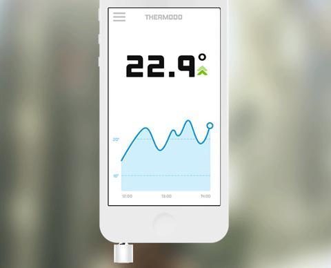 application thermomètre d intérieur