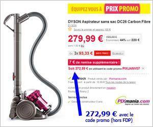 aspirateur dyson promo