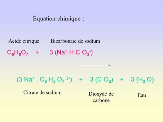 bicarbonate de soude acide citrique