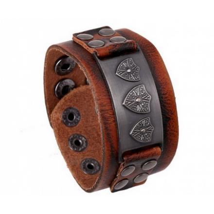 bracelet force cuir homme