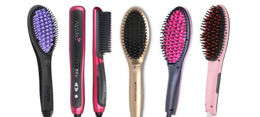 brosse lissante sur cheveux humides