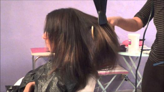 brushing avec brosse plate