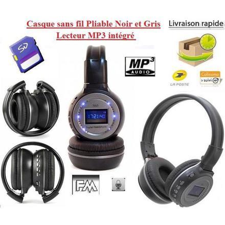 casque audio lecteur mp3 intégré