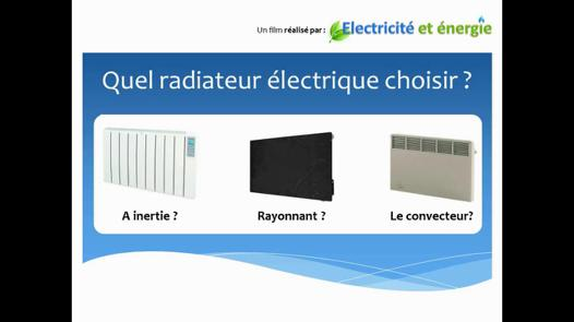 choix des radiateurs electriques