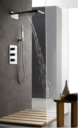 colonne de douche thermostatique encastrable