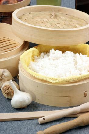 cuit riz vapeur