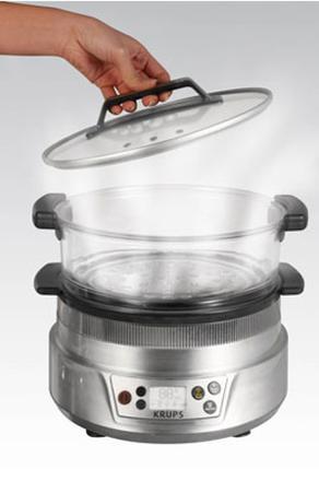 cuit vapeur bol en verre