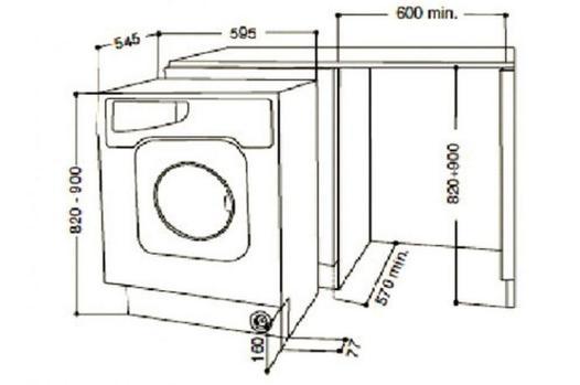 dimension machine à laver