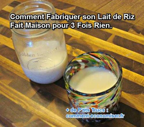 faire du lait de riz