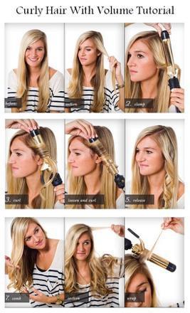 faire les cheveux ondulés