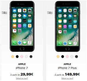 forfait avec iphone 7