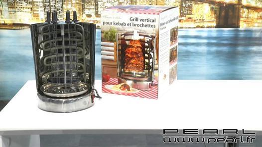 grill vertical pour kebab et brochettes