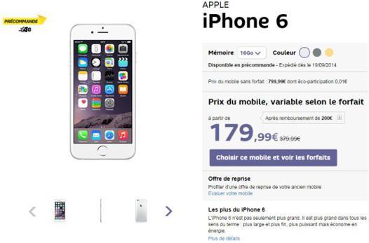 iphone 6s plus forfait