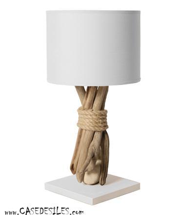 lampe de chevet bois flotté