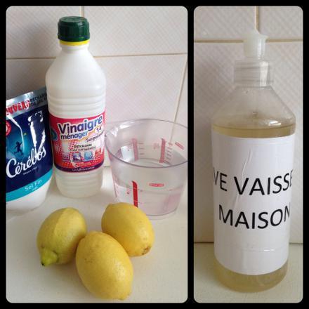 liquide lave vaisselle maison
