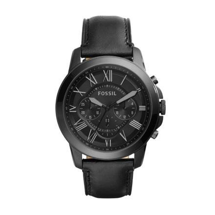 montre fossil cuir noir