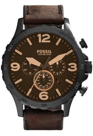 montre fossil homme marron