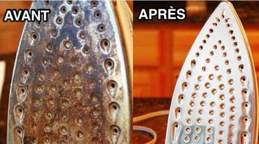nettoyage du fer à repasser