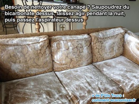 nettoyer un canapé en tissu