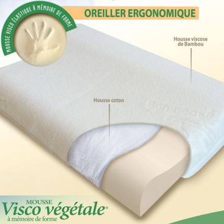 oreillers ergonomiques à mémoire de forme