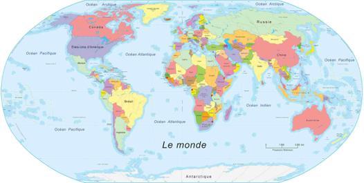 ou une carte du monde