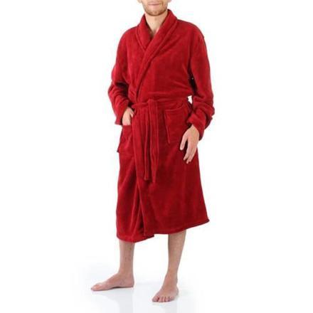 peignoir homme rouge