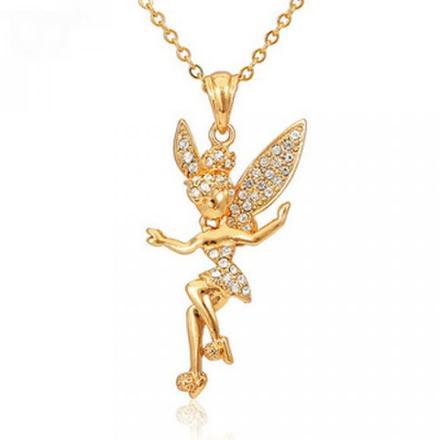 pendentif fée en or