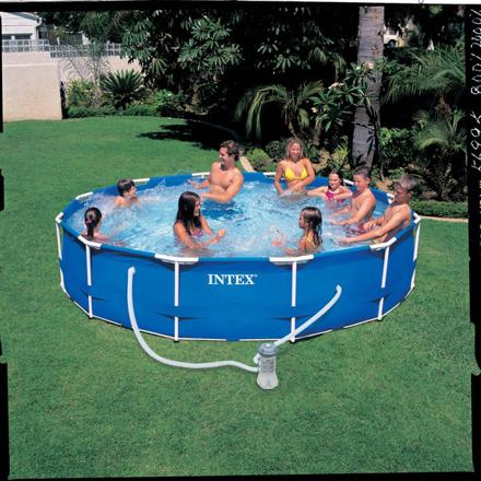piscine metal frame intex