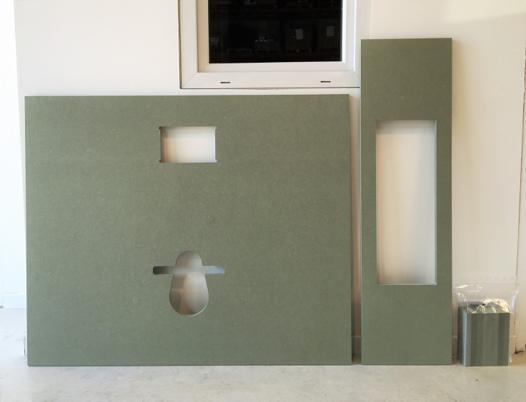 plaque pour wc suspendu