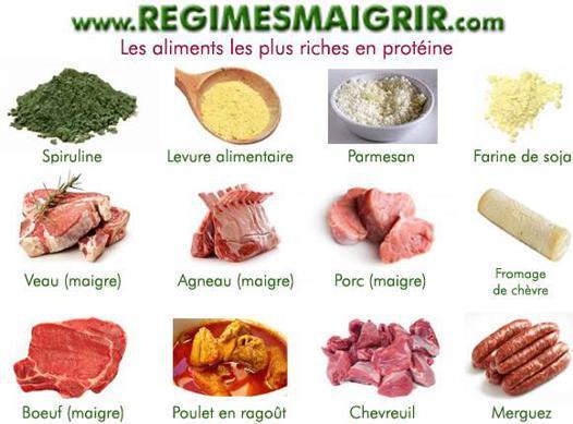 quels aliments contiennent des protéines