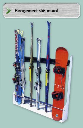 rangement mural pour ski