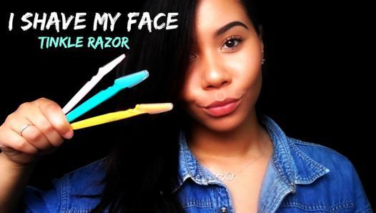 rasoir visage femme