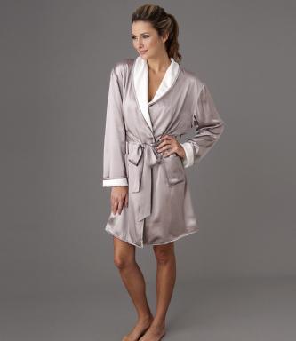 robe de chambre en soie femme