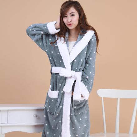 robe de chambre pour femme en polaire