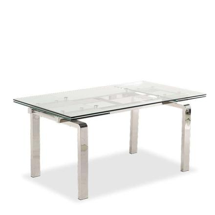table en verre extensible