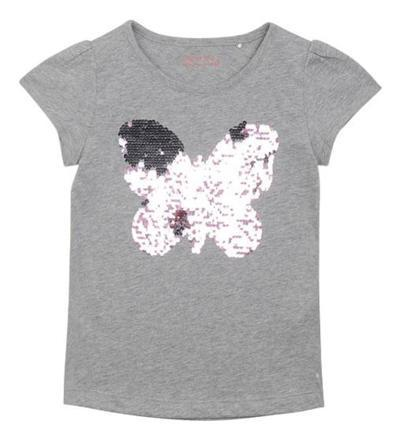 tee shirt fille sequins reversible