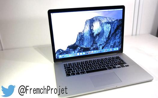 test macbook pro 15 pouces