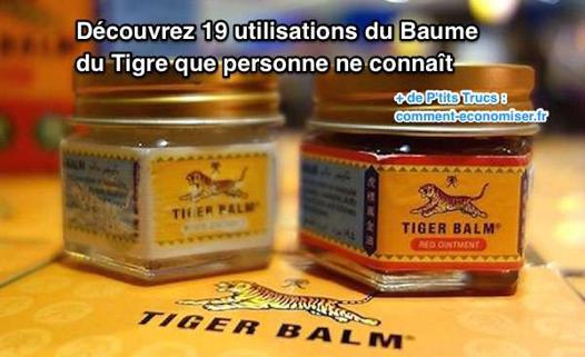 utilisation du baume du tigre